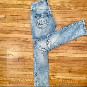 Buckle carter distressed jeans worn 1x 27 S